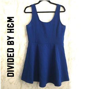 H & M DIVIDED | cobalt blue skater dress| 14